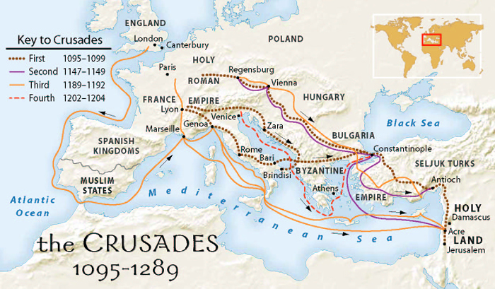 the ancient conflict of the christian and muslims to regain the holy land in the middle east Muslim forces ultimately expelled the european christians who invaded the eastern mediterranean repeatedly in the 12th and 13th centuries—and thwarted their effort to regain control of sacred holy land sites such as jerusalem why are the crusades still relevant today in the middle east.